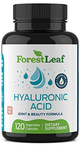 Hyaluronic Acid Dietary Supplement, 100 mg – by ForestLeaf