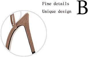 FLYSXP Zapatos de Mujer Rosa roja Corbata Cruzada 3D Tacones Altos ...