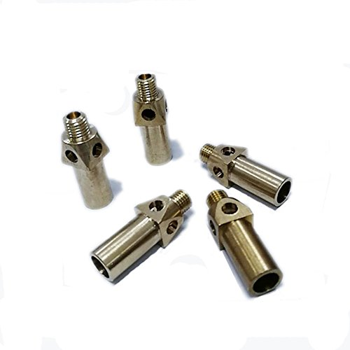 MENSI Brass Replacement Tip / Nozzle / Jet / Burner for Propane LP Gas 5/16-24 Set of (Gas Jet Tip)
