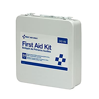 First Aid Only Unitized First Aid Kit Ansi-24 Unit Metal Case, 4.7 Pound by First Aid Only