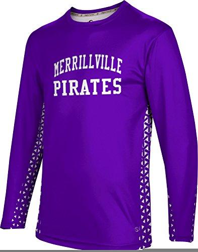 ProSphere Men's Merrillville High School Geometric Long Sleeve Tee - Indiana Shops In Dress Merrillville
