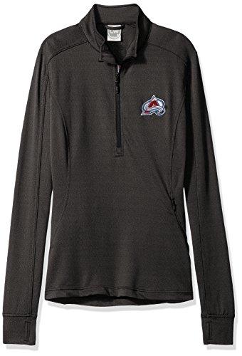 Levelwear NHL Colorado Avalanche Women's Pacer Team Script Half Zip, Small, Black