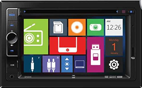 Dual Electronics DV604i Multimedia 6.2 inch Digital TFT Touchscreen Double DIN Car Stereo with Built-In CD/DVD, USB, microSD & MP3 Player
