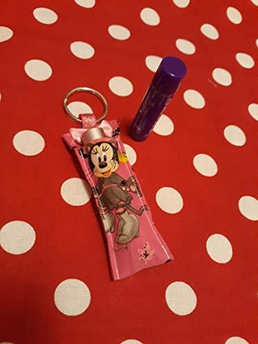 (Disney Minnie Mouse Cat Costume Halloween Pink Chapstick Holder keychains, disneybound, disney fe, Disney Halloween, party favors, stocking stuffers, trick or)