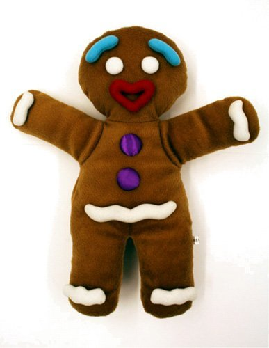 Shrek the Musical Gingy Gingerbread Man Boy Plush Puppet Workable Hands 14