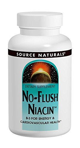 - Source Naturals No-Flush Niacin 500 mg Tabs, 60 ct