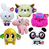 TY Beanie Babies - Moshi Monster SET of 6 MOSHLINGS (UK Exclusive)