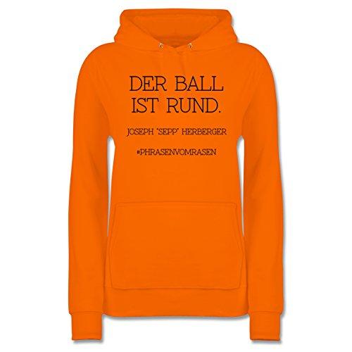 Ist Orange Hoodie Ball Der Fußball-weltmeisterschaft Shirtracer Damen 2018 Rund -