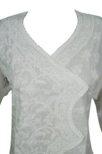 Chest Damen 38 Interior Weiß Mogul Tunika Kleid 4 White xwF0g45