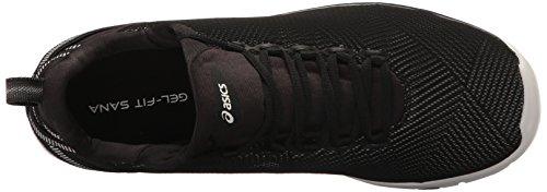 ASICS Women's Gel-Fit Sana 3 Cross-Trainer Shoe, Black/White/Silver, 7 M US by ASICS (Image #8)