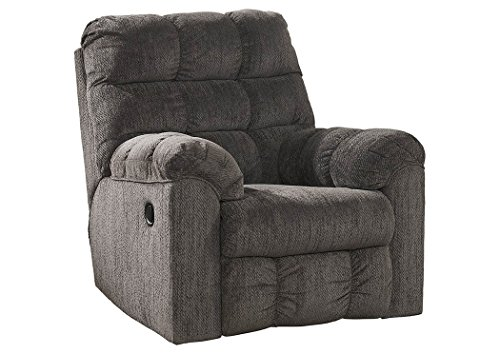 Signature Design by Ashley Acieona Slate Swivel Rocker Recliner (Stores Moines Des Furniture)