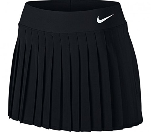 NIKE Womens Court Victory Tennis Skirt Black/White 728773-010 Size Large