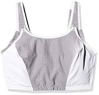Glamorise Women's Full Figure Adjustable Wirefree Sport Bra #1166, White, 24H
