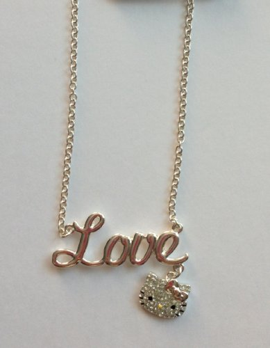 Hello Kitty Love Charm With Face Necklace