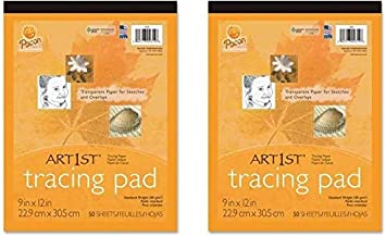 50 Sheets White UCreate Tracing Pad 2 Pack 9 x 12