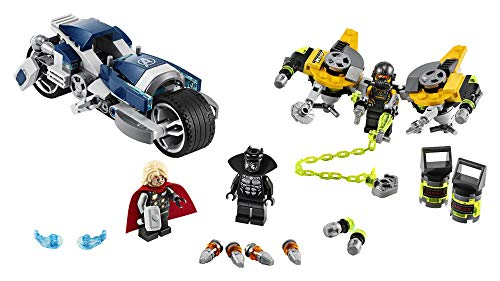 LEGO Marvel Avengers Speeder Bike Attack 76142 Black Panther and Thor Buildable Superhero Toy, Great Gift for Kids, New 2020 (226 Pieces)
