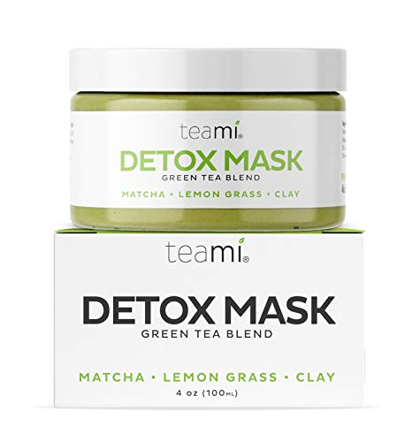Teami Green Tea Matcha Detox Face Mask - Deep Pore Cleansing & Hydrating Blackhead Remover Mud Mask with Bentonite Clay, Facial Masks Best for Acne, Blackheads, Wrinkles, Pore Minimizer, Anti Aging (Green Facial Mask)
