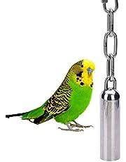 Edelstahl Glocken Spielzeug mit Sweet Sound für Vogel Papagei Ara African Greys Amazon Edelpapageien Kakadus Sittiche Nymphensittiche Wellensittiche Käfig