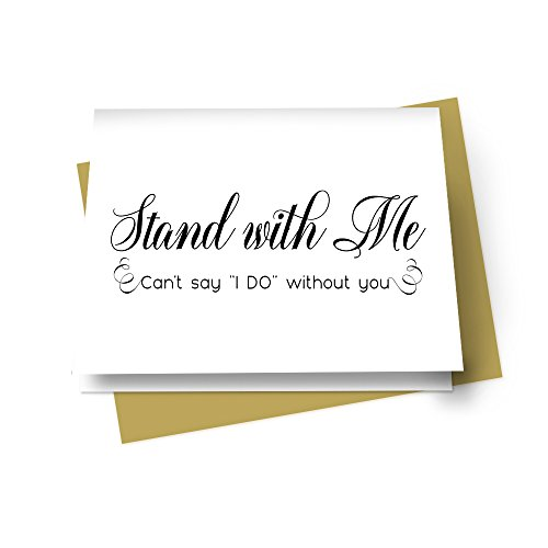 Elegant Will You Be My Bridesmaid Cards (7 Pack) (Bridesmaid Wedding Greeting Card)