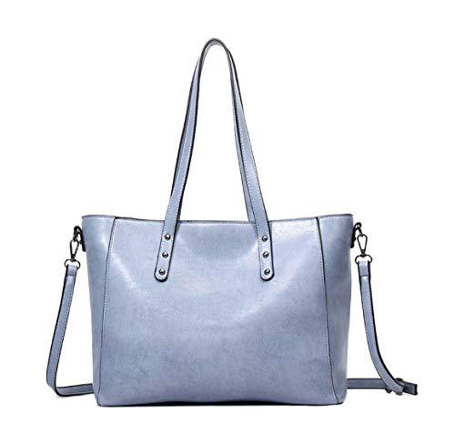 para asa bolsos mano hombro Shoppers de de mujer Azul Bolsos Bolsos y Carteras DEERWORD con bandolera 6wXqC5fxw