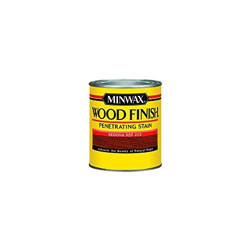 Minwax 222204444 Wood Finish Penetrating Interior Wood Stain, 1/2 pint, Sedona Red ()