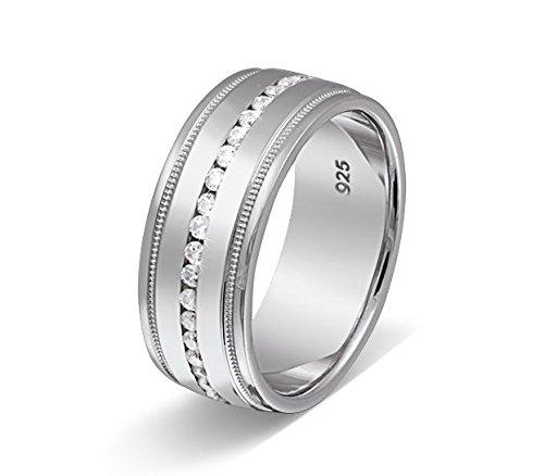 Flame – Anillo de mujer anillo de compromiso anillo de matrimonio Partner Anillo 925 plata de