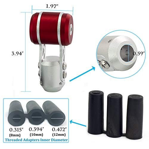 Joystick Shape Aluminum Alloy Automatic Manual Car Stick Shifter Head Fit Most MT Vehicles Red Thruifo Gear Shift Knob