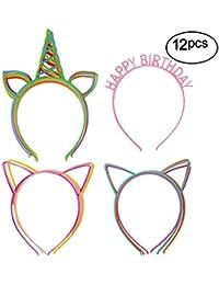 Girl's Plastic Headbands Tiara Bunny Cat Bow Hairbands