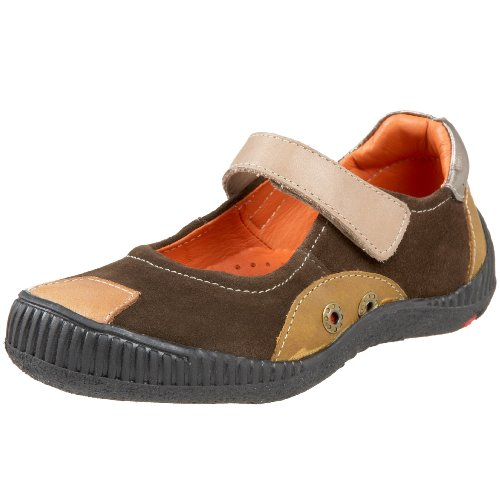 Kid Express Toddler Skylar Mary Jane,Dark Brown Combo,25 M EU (US Toddler 9 M) - Kid Express Leather Mary Janes