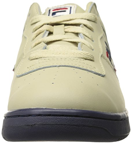 Fila Heren Original Fitness Lea Klassieke Sneaker Crème / Peacoat / Chinees Rood