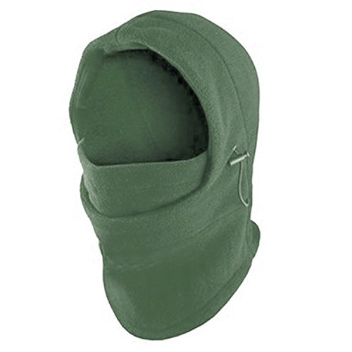 Fleece Windproof Ski Face Mask Balaclavas Hood by Super Z Outlet (Olive Green),One - Outlets Mens