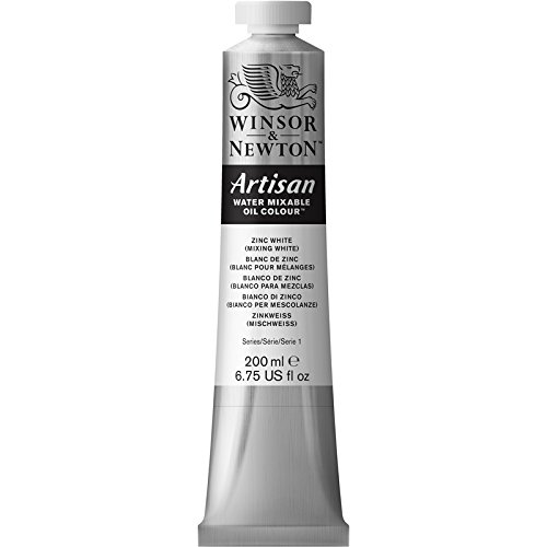 Winsor & Newton Artisan Water Mixable Oil Color, 200ml, Zinc White with Mixing (Artists Oil Colour Paint)