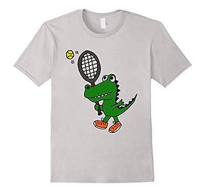 Smiletodaytees Funny Alligator Playing Tennis T-shirt