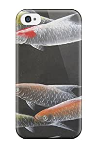 For Iphone 4/4s Protector Case De Gournay Fish Phone Cover