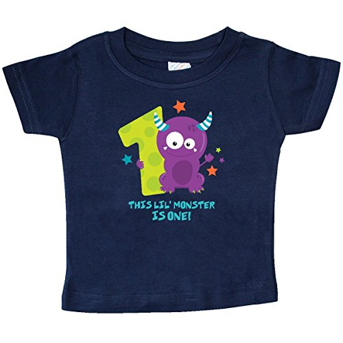 inktastic - Monster 1st Birthday Baby T-Shirt 18 Months Navy 2c4b6