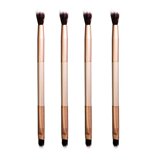 Ninasill Clearance Doubled-end Eye Shadow Makeup Brush (Gold)