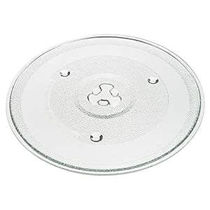 Smartfox – Microondas Platos Cristal Plato Giratorio con Automatismo Soporte para Horno de microondas Horno Universal en 3 Distintos tamaños, Vidrio, ...