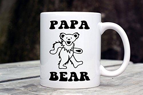 Grateful Bear - Papa Bear Mug - Grateful Dead inspired mug - Dancing Bear - deadhead gift - Father's Day Gift - Hippie Dad Gift - New Dad Gift