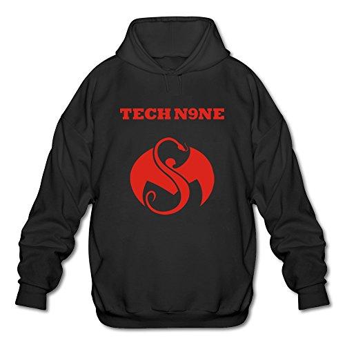 ToWi Men's Tech N9ne Logo Hoodie Black S (Tech N9ne Jersey)