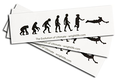 Ultimate frisbee trainers4me evolution of ultimate frisbee sticker 3 pack set of three fandeluxe Image collections