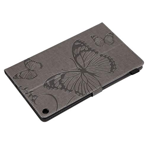 (Zerama Replacement for Kindle HD10 2017 Embossed Butterfly Magnet Flip Case Card Slot Bracket Shock Absorbing Tablet Cover)