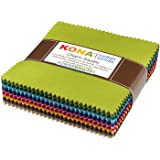 Kona Cotton Dusty 101 Palette Charm Square 101 5-inch Squares Charm Pack Robert Kaufman CHS-563-101