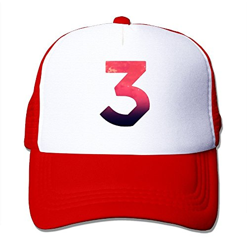 [Retro Chance The Rapper Number 3 Coloring Book Adult Nylon Adjustable Mesh Hat Mesh Cap Red One Size Fits] (Pi Day Costume Ideas)