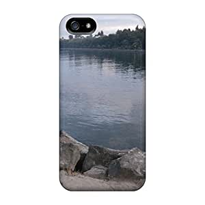 Tpu Shockproof/dirt-proof Waterfront Park 011 Cover Case For Iphone(5/5s)