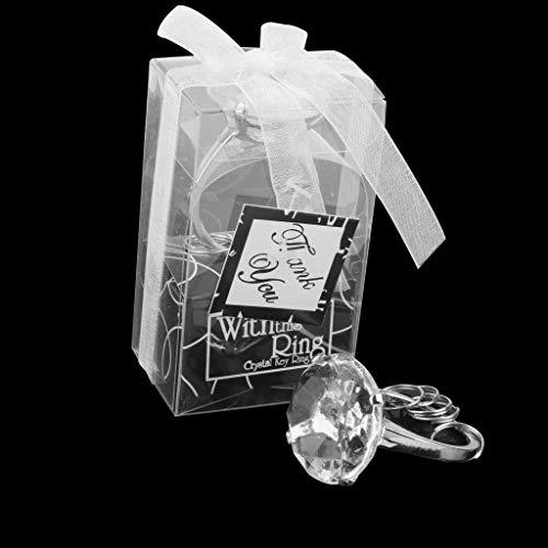 BROSCO Rhinestone Ring Napkin Ring Holder Wedding Party Dinner Table Decor Set