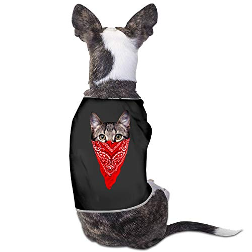 Nicokee Puppy Dogs Shirts Costume Gangster Cat Pets Clothing Warm Vest T-Shirt M]()