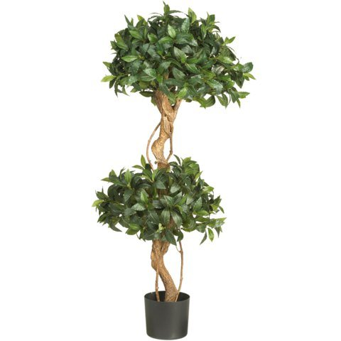 - Nearly Natural 4 Ft Sweet Bay Double Ball Topiary Silk Tree