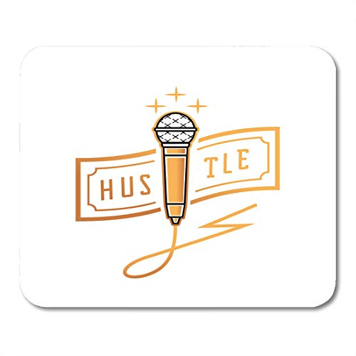 Emvency Mouse Pads Bank Ambition Golden Microphone Hustle Banknote and Thunderbolt Wire Mouse Pad for notebooks, Desktop Computers mats 9.5