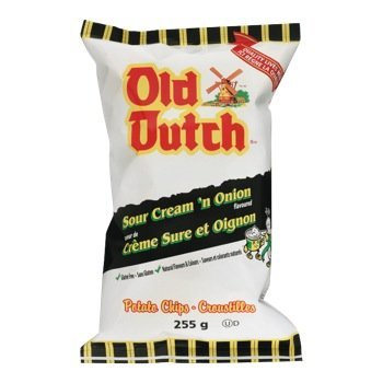 Old Dutch Sour Cream 'n Onion Flavoured Potato Chips 255g {Imported from Canada}