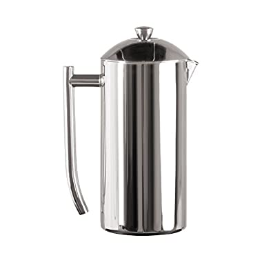 Frieling Polished 18/10 Stainless Steel French Press in Frustration Free Packaging, 36 Ounce